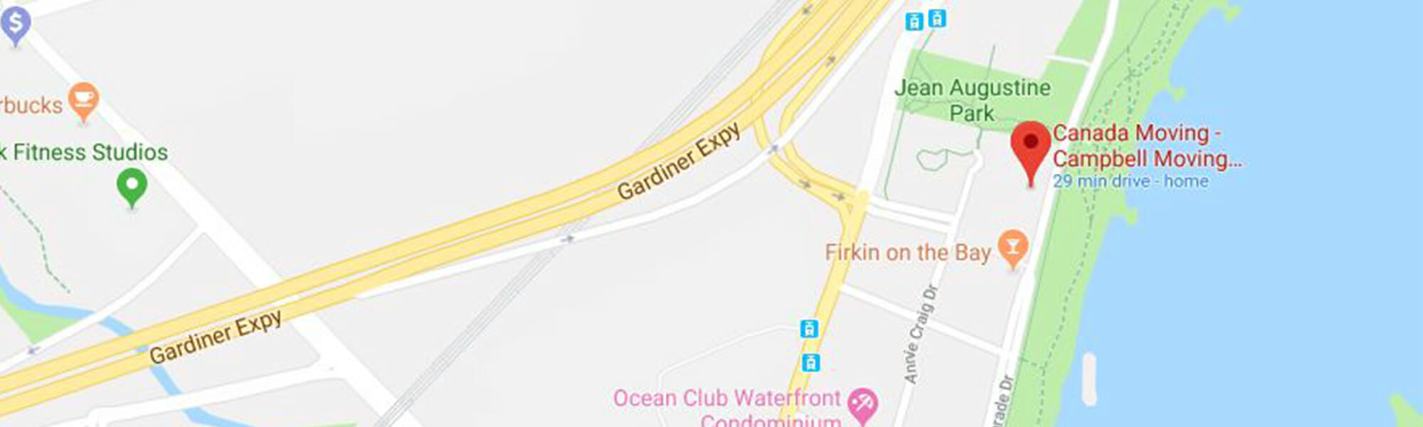 Canada-Moving-Toronto-Google Map
