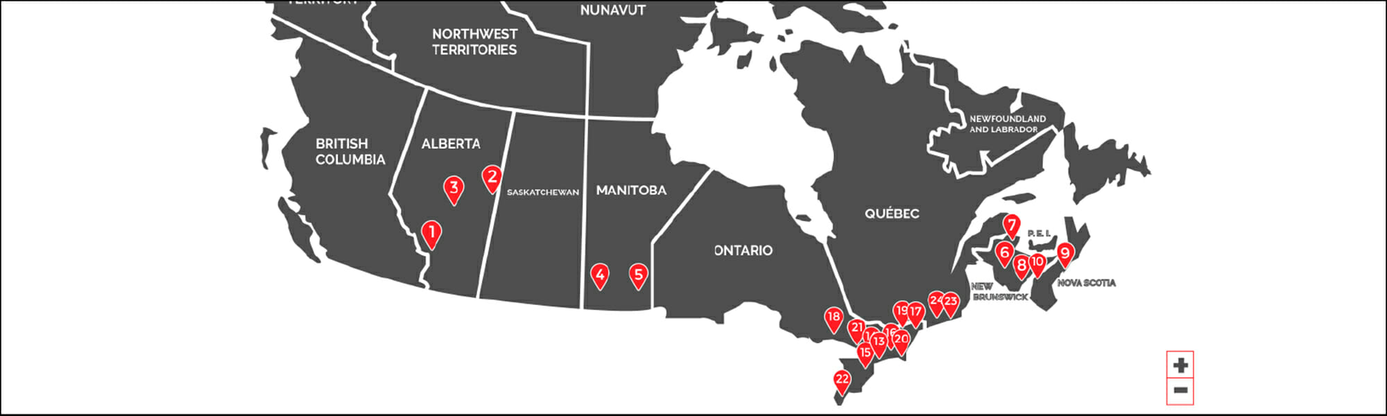 Canada Moving Inc. Long Distance Moving Map